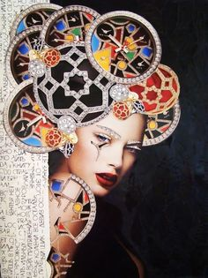 """Saatchi Art is pleased to offer the collage, """"*,"""" by Emilia Elfe. Original Collage: Paper on Paper, Cardboard, Other. Art Du Collage, Collage Artists, Mixed Media Collage, Mixed Media Faces, Collage Portrait, Surreal Collage, Portraits, Mixed Media Artwork, Mixed Media Artists"""