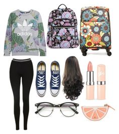 """Comfy Flying"" by tayjayne8 on Polyvore featuring Vera Bradley, Converse, Kate Spade, adidas Originals and Topshop"