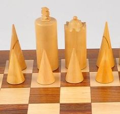 Modern hand carved chess set.