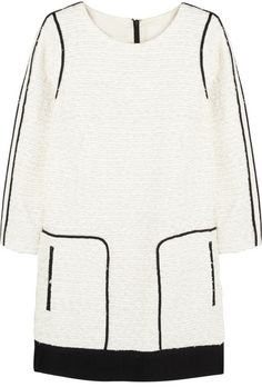 J.Crew Collection satin-trimmed bouclé-tweed mini dress on shopstyle.com