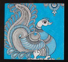 Kalamkari paintings, traditional and contemporary. Madhubani Paintings Peacock, Kalamkari Painting, Tanjore Painting, Madhubani Art, Indian Art Paintings, Kalamkari Fabric, Indian Artwork, Worli Painting, Kerala Mural Painting