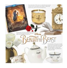 """""""Disney's 'Beauty and the Beast'"""" by beebeely-look ❤ liked on Polyvore featuring interior, interiors, interior design, home, home decor, interior decorating, LSA International, Jonathan Adler, Disney and Home"""