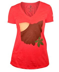 Buckeye Ohio t-shirt. I saw this hanging in a closet at the Parade of Homes. It will be in MY closet very soon. #GoBucks