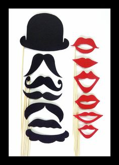 Hat, mustaches, lips