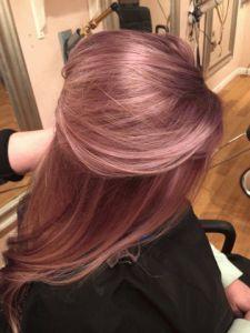 Rose metallic gold hair ! …