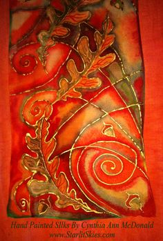 Hand Painted Silk Scarves By Cyn Mc