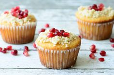 Gluten Free & Paleo Orange Pomegranate Muffins - Almost Supermom (gluten free baking, gluten free dessert recipes, gluten free cupcake recipes)