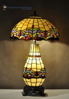 Tiffany Ceiling Fixtures, stained glass lighting in Mission, Fishscale,Traditional and more styles. Stained Glass Table Lamps, Stained Glass Light, Antique Lamps, Vintage Lamps, Tiffany Style Table Lamps, Victorian Furniture, Leaded Glass, Light Fittings, Oil Lamps