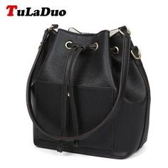 TuLaDuo Brand Bag Women Shoulder Bags Ladies Handbags Female Bucket Tote Bag 2016 Woman Leather Bags Women Designer Handbags