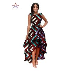 2016 Long Dessses Women Fashion Dress Maxi Brand African Bazin Dresses for Women Dashiki Ankara Dresses Cascading African Dashiki Dress, African Print Skirt, African Print Dresses, Ankara Dress, African Fashion Dresses, African Prints, African Attire, African Wear, African Style