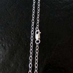 """18/"""" 1.4mm Rhodium Plated Textured Faceted 925 Sterling Silver Rolo Chain"""