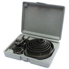 Groothandel universele 16 stks/partij 19-127mm Verschillende Behoeften Hout Metalen Aoolys Gat Boor Zag Snijden Box Set Kit Helper Pro Levert
