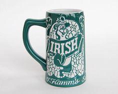 Hamms Beer Bear Irish Stein Erin Go Hamms Mug