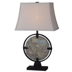 Kenroy Home Suspension 28 in. Green Slate Table Lamp-32226SL - The Home Depot