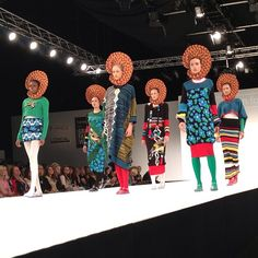 Cut out hair at the @Elaine Davis show at @OfficialGFW this year. Collection by Alison Foster #gfw #gfw2013 #fashion #catwalk #model #print #design #graduate #fashion #moda #stale #london #nofilter #instagood #instamood #instafollow #follow #like #igdaily