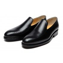 The Khalid priced at $200 is a whole-cut loafer with hand-punched toe details. A timeless style, perfect for any occasion.