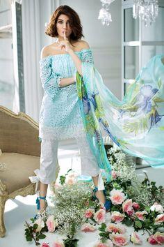 Sana Safinaz Best Summer Lawn Dresses Latest Collection 2017-2018