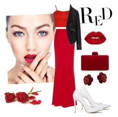 """RED Style"" by udggv24 on Polyvore featuring Alexander McQueen, WearAll, Zizzi and Lime Crime"