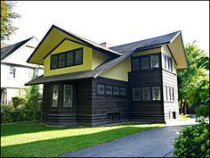 E. Arthur Davenport House.1901. River Forest, Illinois. Prairie Style. Frank Lloyd Wright