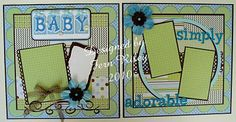 FERN'S CREATIONS: 2 Page Baby Boy Blank Layout!