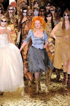 Designer Vivienne Westwood and her collection.