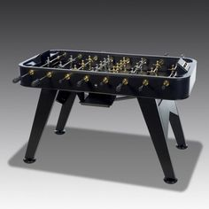 A table football table with a lot of glamour...