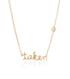 Shy by Sydney Evan Taken Necklace Yellow Gold