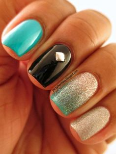 Mix and match nails.