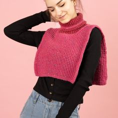 Brise - Halskrage Mönster Knitting Patterns Free, Free Knitting, Free Pattern, Crochet Patterns, Knitting Ideas, Tweed, Head And Neck, Knit Or Crochet, Stitch Markers