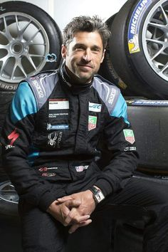 "Patrick Dempsey (Derek ""McDreamy"" Shepherd) in his racing gear. Grey's Anatomy."