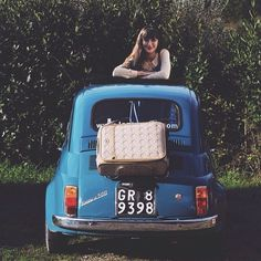 A perfect combination of #Tuscany and #Fiat500