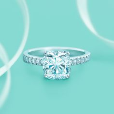Tiffany Novo® diamond engagement ring. #TiffanyPinterest