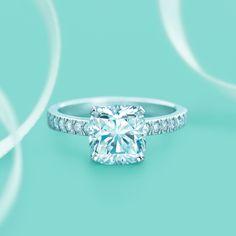Tiffany Novo® diamond engagement ring. #TiffanyPinterest