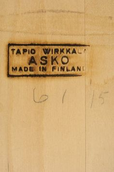 Wirkkala table, stamp
