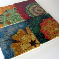 Love these coasters! The colors are so rich!