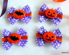 Laços Halloween poá (10 Pares)