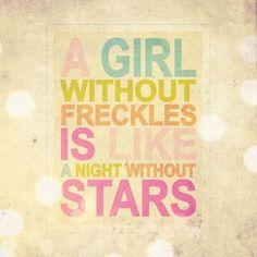 Freckles!!!