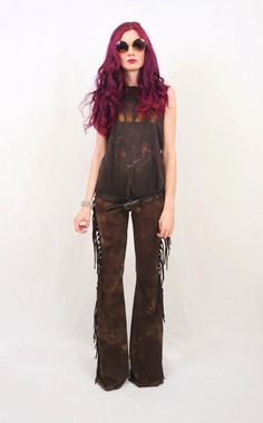 Can't help myself....Fringe Bell Bottoms  Rocker Tie Dyed Bell Bottoms  High by SewRed, $129.00