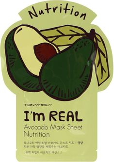 Tony Moly I'm Real Avocado Mask Sheet is an individually wrapped sheet mask that is formulated with avocado extract to deliver needed nutrients deep within the skin in as little as 20 minutes. #AvocadoHair Skin Care Regimen, Skin Care Tips, Skin Tips, Anti Aging Skin Care, Natural Skin Care, Natural Face, Tony Moly, Face Peel Mask, Make Up
