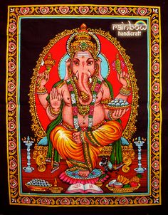 Hindu Elephant God | Small (17 x 22 Inches)