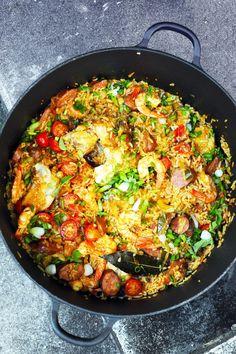 Dorian cuisine.com Mais pourquoi est-ce que je vous raconte ça... : Jambalaya ! Jambalaaaayaaaa !!! Un vrai plat à copains et à soleil… à soleil…