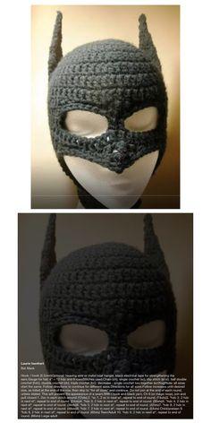 Batman Hat W/Face mask - Pattern                                                                                                                                                                                 More