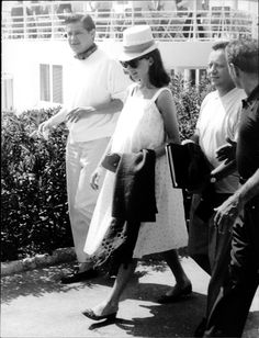 A pregnant Audrey Hepburn on vacation with friends at the Hôtel du Cap-Eden-Roc in Antibes, France, May 1960. Audrey's husband Mel Ferrer was in Nice filming The Hands of Orlac at the Victorine studios.