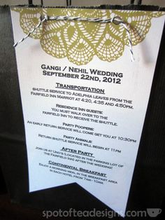 #Wedding Hotel Welcome Bag - TIp: attach the details sheet on the OUTSIDE so guests read right away!