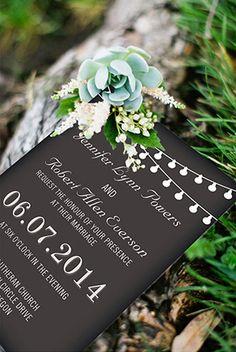 chic rustic chalkboard wedding invitations for backyard wedding ideas