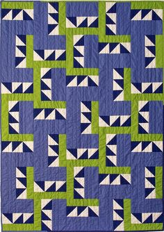 "Great palette! ""Blueberry Lime Fizz"" quilt by Debbie Grifka of Esch House Quilts."
