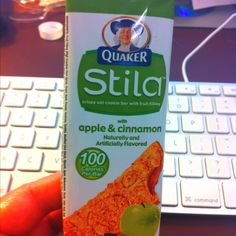 Quaker Stila are so awesome they are like crackers with a fruit filling. They are worth every bit of the two points you spend on weight watchers. It's like a hard fig newton. A must have for any diet and they are 100 calories.