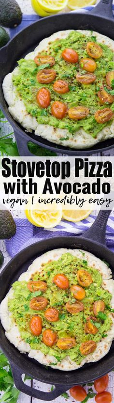 This stovetop pizza is perfect when you feel like having pizza but don't have much time! It makes such a great vegan dinner! It's such an easy pizza recipe! Find more vegan recipes at veganheaven.org