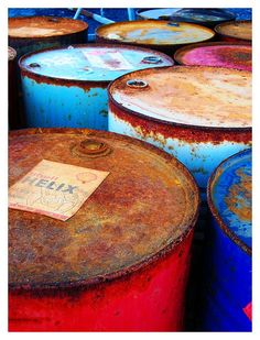 oil barrels . #color