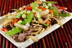 Ground beef lo mein is an easy, budget-friendly stir-fry dinner with ground beef and vegetables cooked in an Asian-flavored sauce. The Effective Pictures We Offer You About World Cuisine recipes A qua Asian Recipes, Beef Recipes, Cooking Recipes, Cooking Tips, Hamburger Recipes, Budget Recipes, Asian Foods, Chinese Recipes, Beef Meals